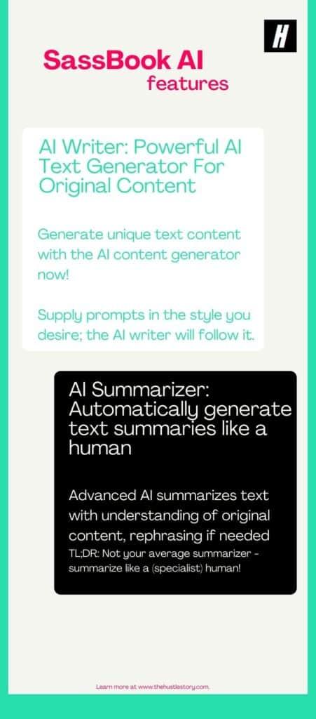 content generator sassbook ai writer